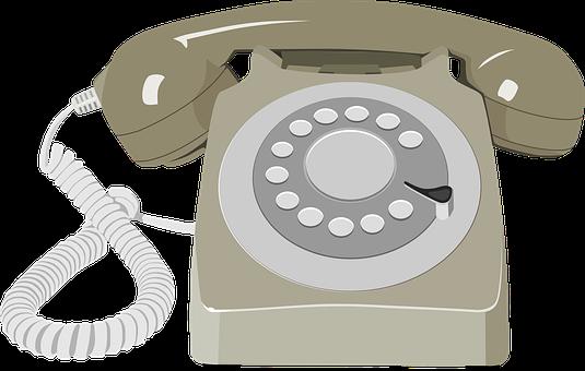 Rotary Dial, Telephone, Retro, Phone, Communication