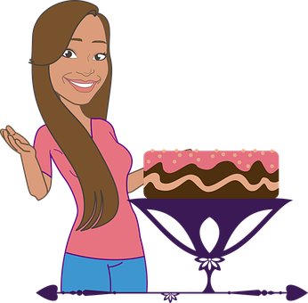 Woman, Cake, Smile, Cook, Food, Sweet, Dessert, Candy