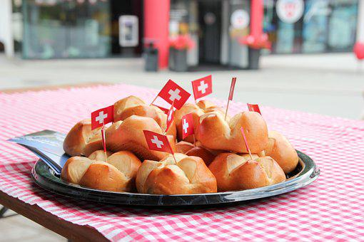 Bread, Flag, Traditional, Swiss, Switzerland