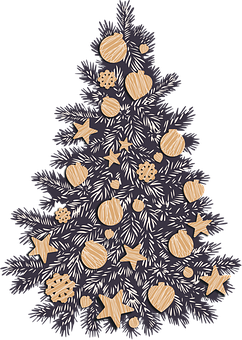 Christmas, Tree, Ornaments