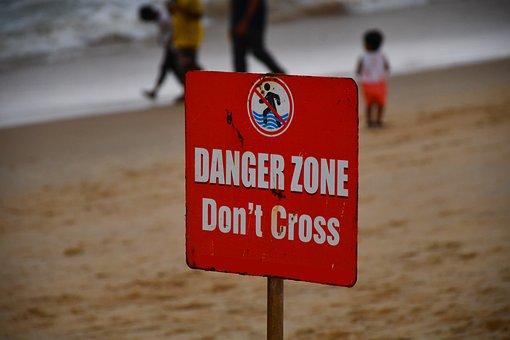 Sign, Warning, Danger, Do Not Cross, Barrier