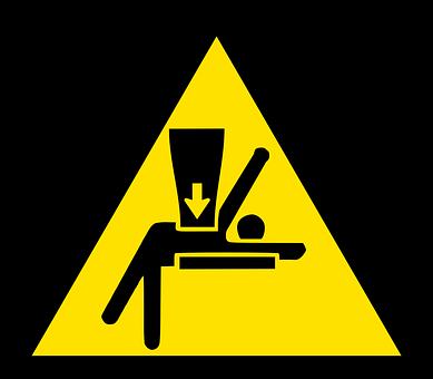 Iso-7010, Safety, Warning, Body, Crush, Injury