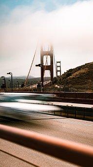 Bridge, Highway, Golden Gate Bridge, Sea, Landmark