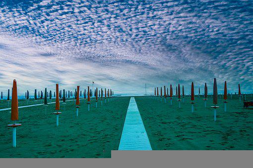 Beach, Sand, Path, Way, Coast, Shore, Seashore, Seaside
