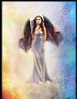 Woman, Wings, Gargoyle, Fantasy, Curly, Curly Woman