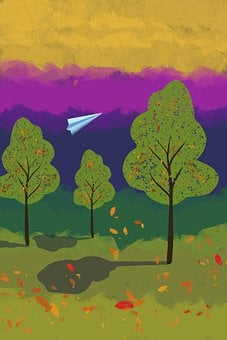 Park, Trees, Autumn, Fall, Landscape, Environment