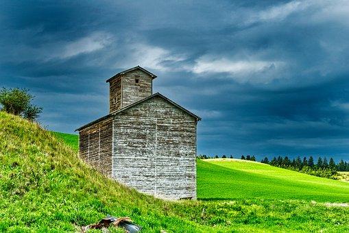 Grain Storage, Farm, Grain, Rural, Silo