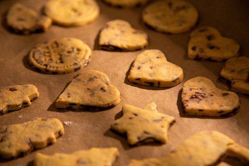 Cookies, Biscuits, Assorted Shapes, Hearts, Stars, Bake