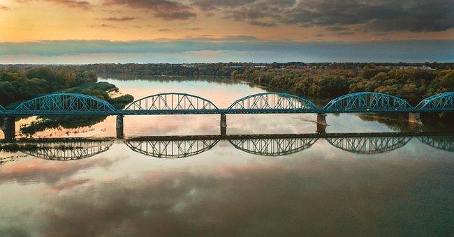 Bridge, River, Wisla, Vistula River, Infrastructure