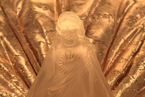 Jesus Christ, Sculpture, Figurine, Jesus, Gold, Faith