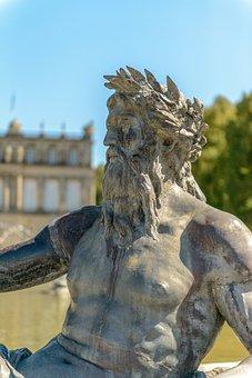 Fountain, Sculpture, Statue, Man, Male, Figure