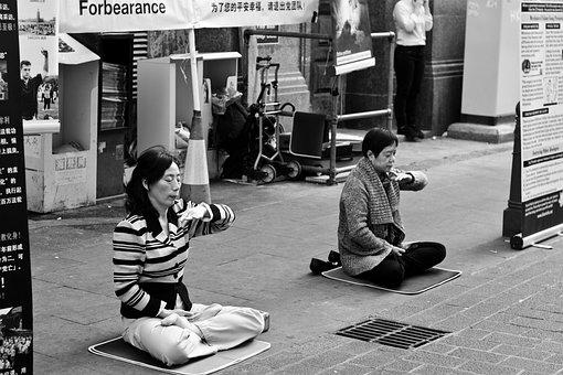 Street Photography, Women, Meditate, Meditating Women