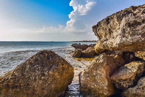 Rocks, Coast, Sea, Ocean, Water, Cliff, Rock Formation