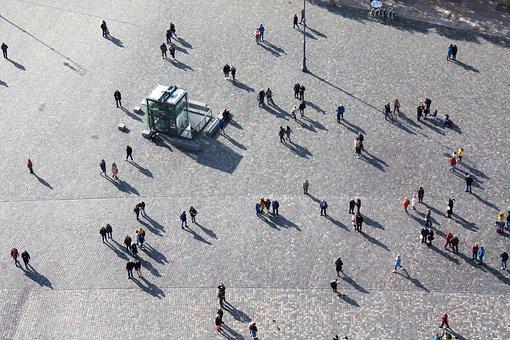 Human, Shadow, Dresden, Frauenkirche, Pedestrian