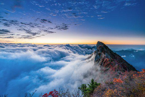 Mountain, Summit, Cloud, Peak, Sea Of ​​clouds