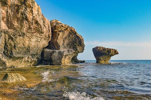 Cliff, Coast, Sea, Ocean, Water, Waves, Rock Formation