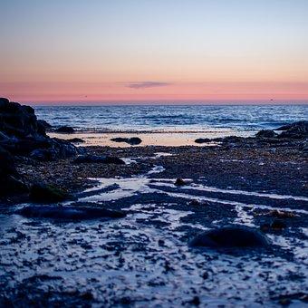Atlantic Ocean, Sunset, Coast, Coastline, Beach
