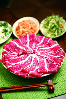 Meat, Food, Ingredients, Raw, Thin Meat, Chopsticks