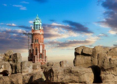 Lighthouse, Tower, Coast, Seaside, Beacon, Landmark
