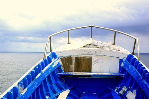 Boat, Sea, Ocean, Wooden Boat, Fishing Boat