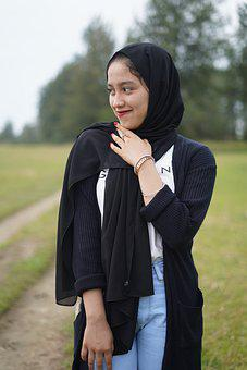Woman, Hijab, Smile, Happy, Laugh, Model, Young, Face