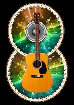 Guitar, Discs, Music, Acoustic Guitar