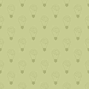 Light Bulbs, Brains, Design, Bulbs, Pattern, Seamless