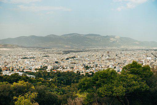 City, View, Urban Landscape, Mountains
