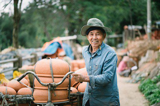 Pottery, Man, Delivery, Hoi An, Craftsman