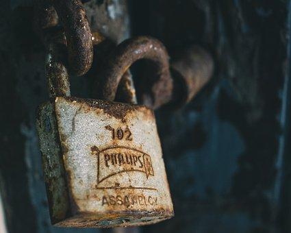 Lock, Locked, Padlock, Terror, Door, Fear, Halloween