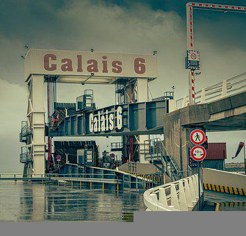 Ferry Terminal, Calais, Port, Industry, Shipping Lanes