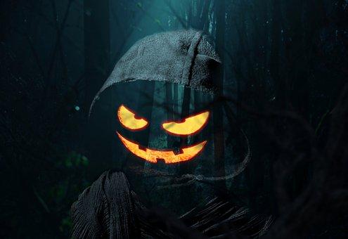 Ghost, Halloween, Pumpkin, Dark, Gothic