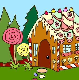 Hansel, Gretel, Gingerbread, Story, Fairy Tale, Candies