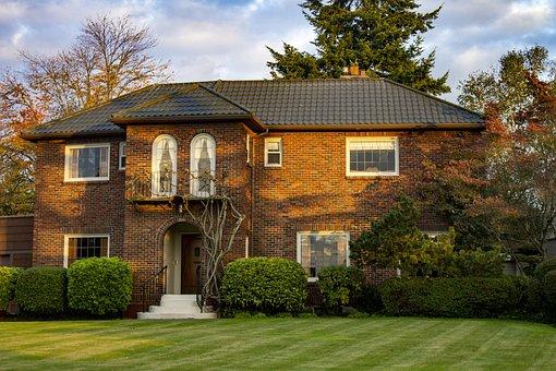 House, Home, Lawn, Bricks, Brick Walls, Landscape