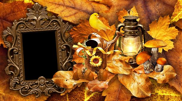 Acorn, Bird, Leaves