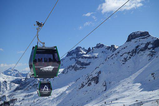 Cablecar, Cableway, Lift, Mountains, Snow, Winter