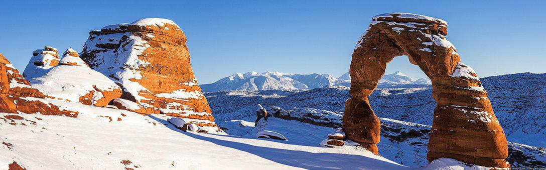 Panorama, Mountains, Snow, Rock Formations