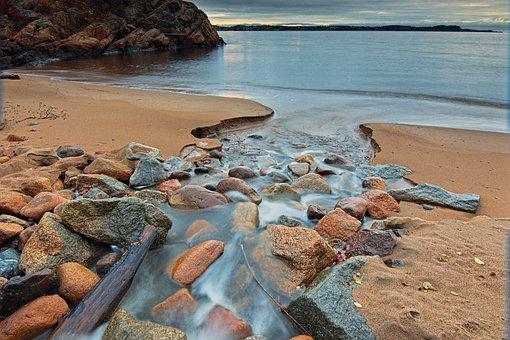 Ocean, Sea, Beach, Sand, Rocks, Stones