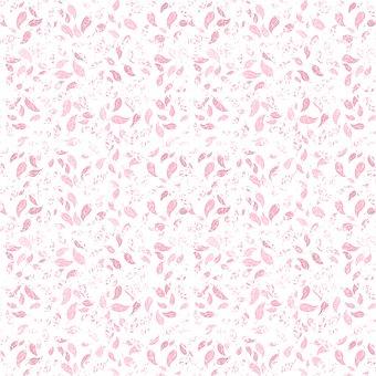 Leaves, Pattern, Seamless, Pink, Design