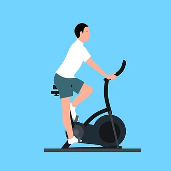 Man, Exercise, Bike, Stationary, Stationary Bike
