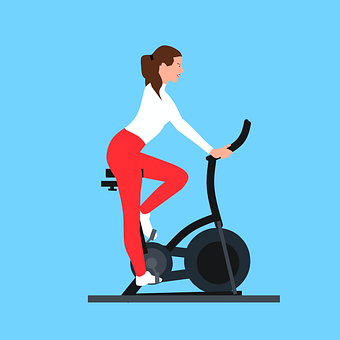 Woman, Exercise, Bike, Stationary, Stationary Bike