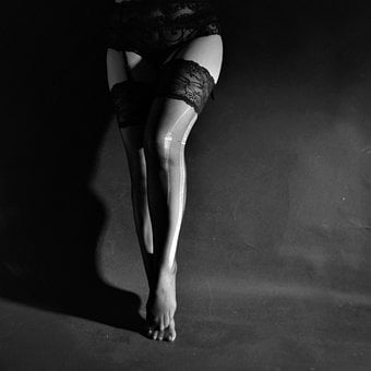 The Act Of, Legs, Tights, Underwear, Stockings, Ripped