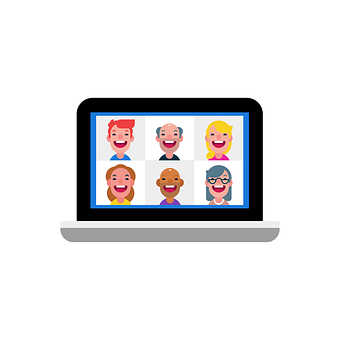Video Conference, Video, Webinar, Icon, People