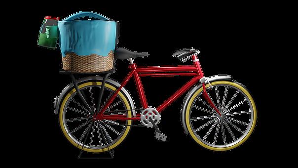 Bike, Bicycle, Basket, Transport, Cycling, Vintage