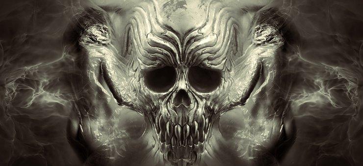 Fantasy, Halloween, Skull And Crossbones, Creepy, Weird