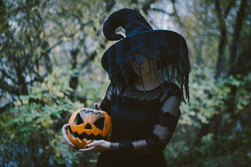 Pumpkin, Witch, Costume, Witch Costume, Black Dress