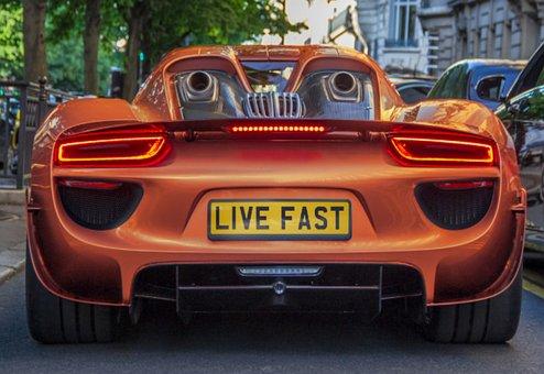 Car, Vehicle, Wheels, Speed, Luxury, Plate, Live Fast