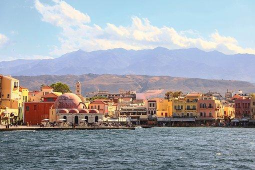 Buildings, Port, Sea, Coast, Water, Greek, City, Chania