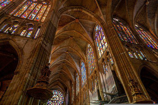 Leon Cathedral, Interiors, Gothic, Architecture, Church