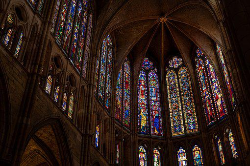 Cathedral, Stained Glass, Church